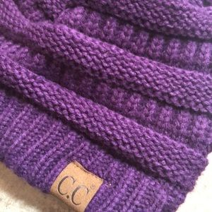 Purple CC beanie hat